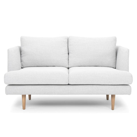 Indiana 2 Seater Lounge Whisper Grey and Oak