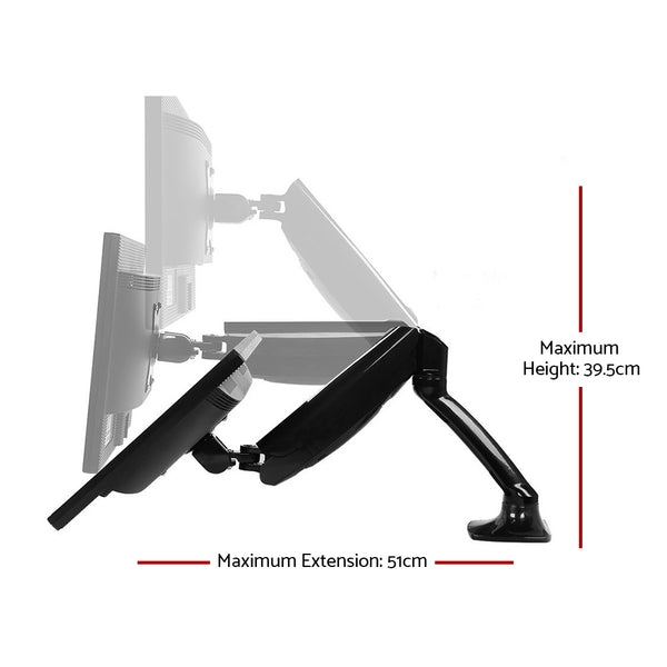 Adjustable Monitor Arm Desk Mounted  Black