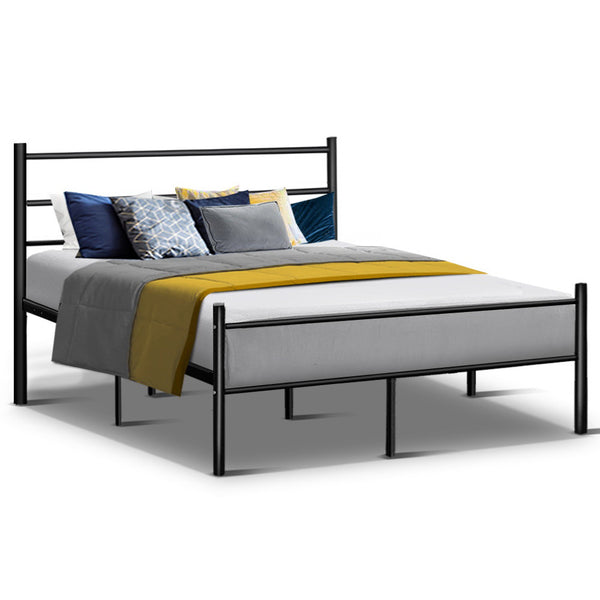 Metal Queen Bed Frame  Black