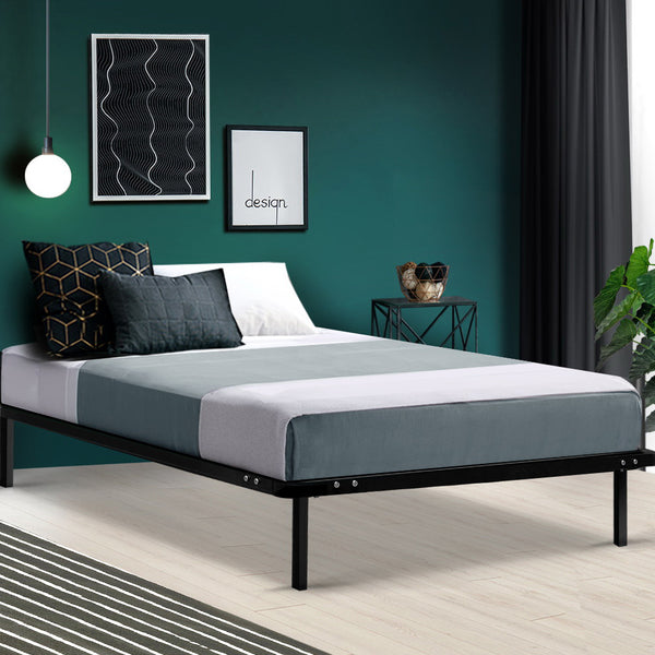Single  Metal Bed Frame  Black