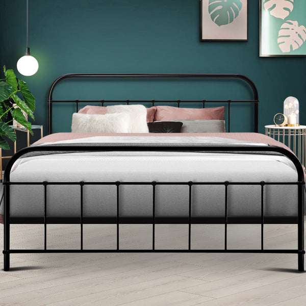 Queen  Metal Bed Frame  Black
