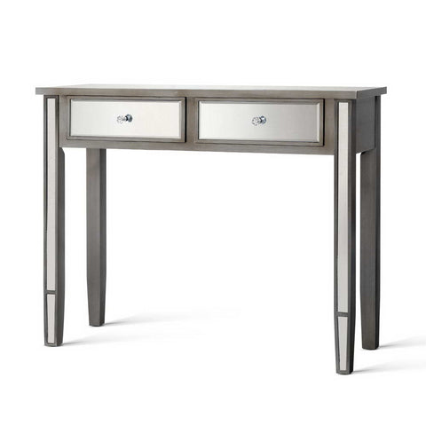 Mirrored Furniture Dressing Console  Hall Table Drawers Sidebaord