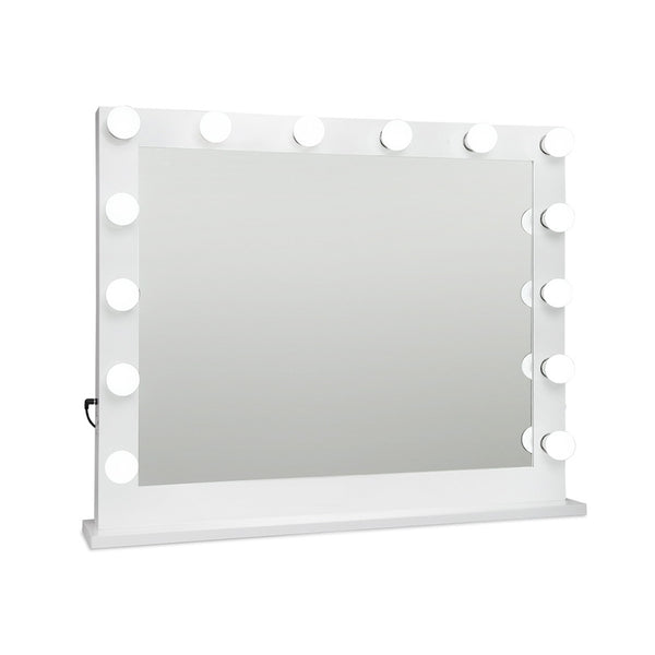 Make Up Mirror with LED Lights - White