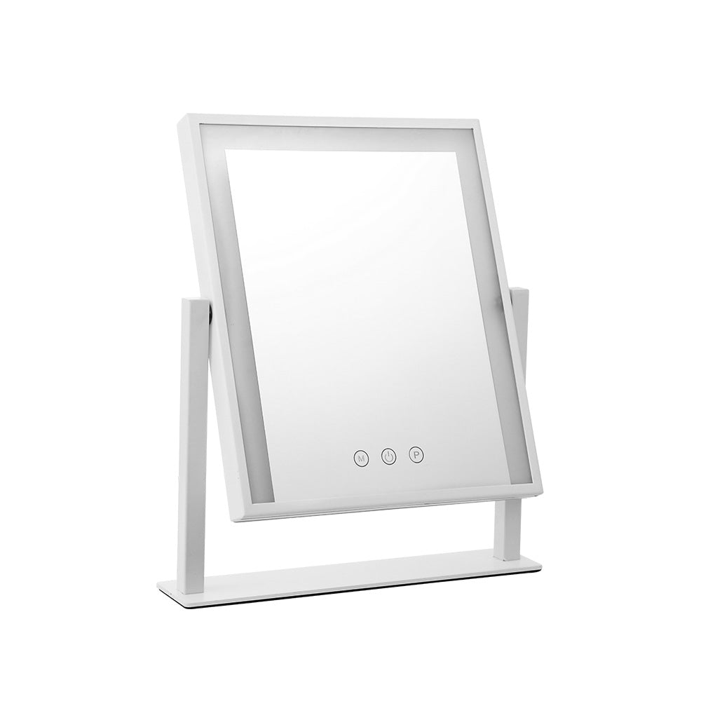 LED Makeup Mirror Hollywood Standing Mirror Tabletop Vanity White