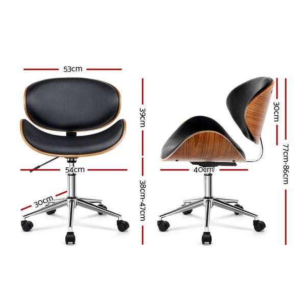 Walnut Base Office Chair (Black) - FREE SHIPPING AUSTRALIA WIDE - Darkhorse Creations