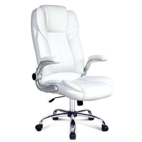 PU Leather Executive Office Chair - White - Darkhorse Creations