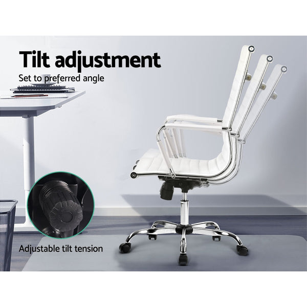 Replica Office Chairs PU Leather Executive White