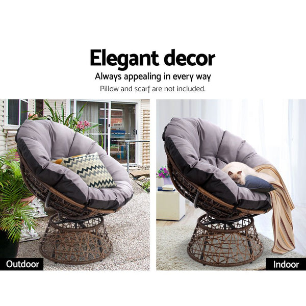 Papasan Chair  Brown