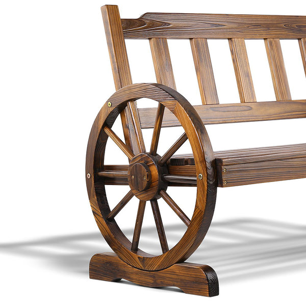 Wooden Wagon Wheel Chair