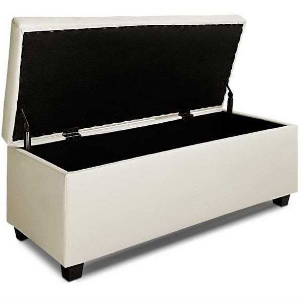Storage Ottoman Faux Leather (Cream) - FREE SHIPPING AUSTRALIA WIDE - Darkhorse Creations