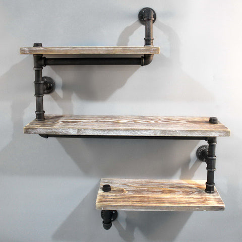 Industrial Pipe Shelf 3 Level