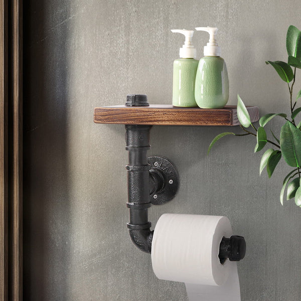 Industrial Pipe Paper Holder Shelf