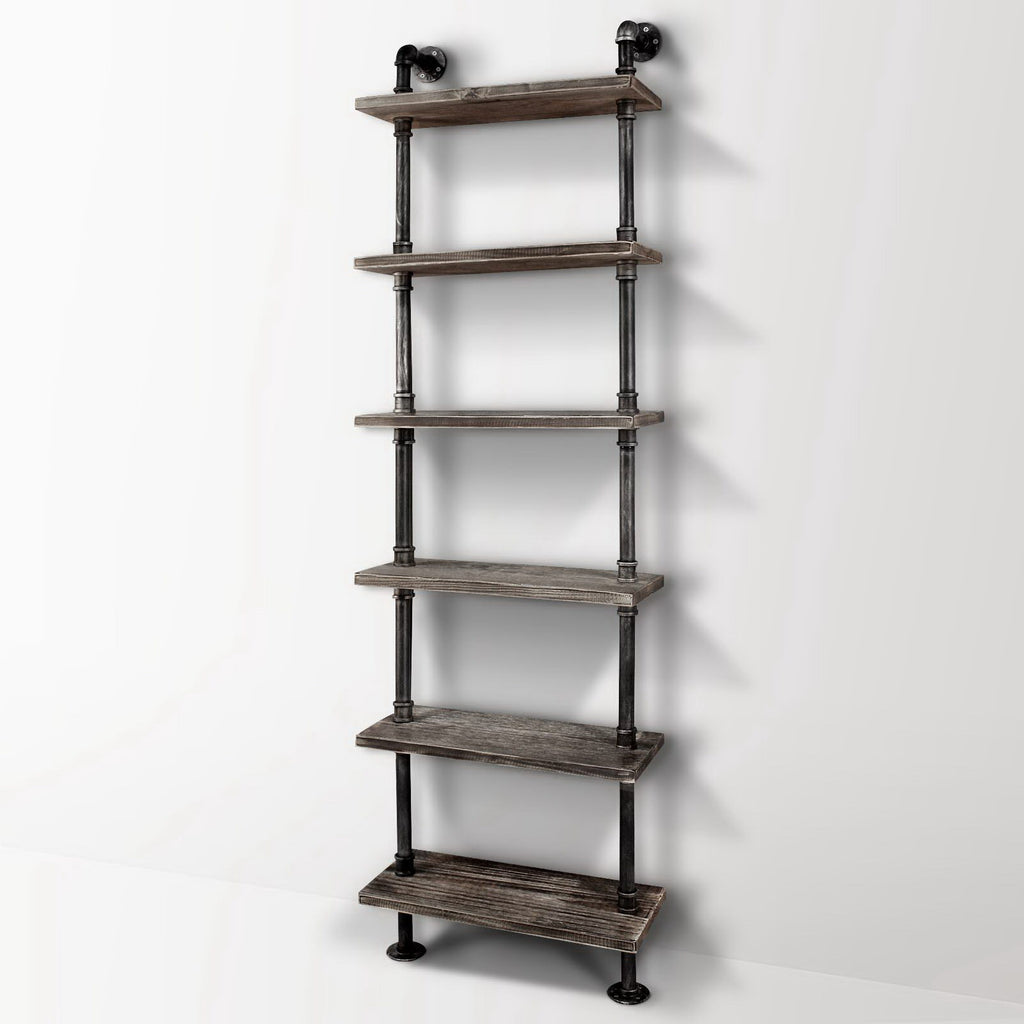 Rustic Industrial 6 Level Pipe Shelf - FREE SHIPPING AUSTRALIA WIDE - Darkhorse Creations