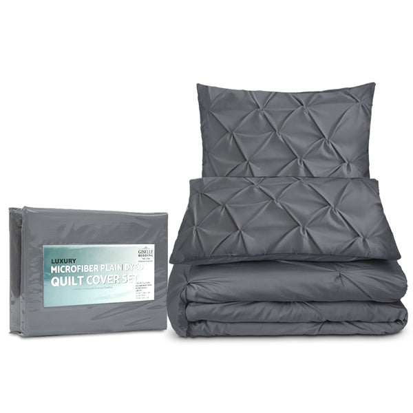 Super King Quilt Cover Set - Charcoal