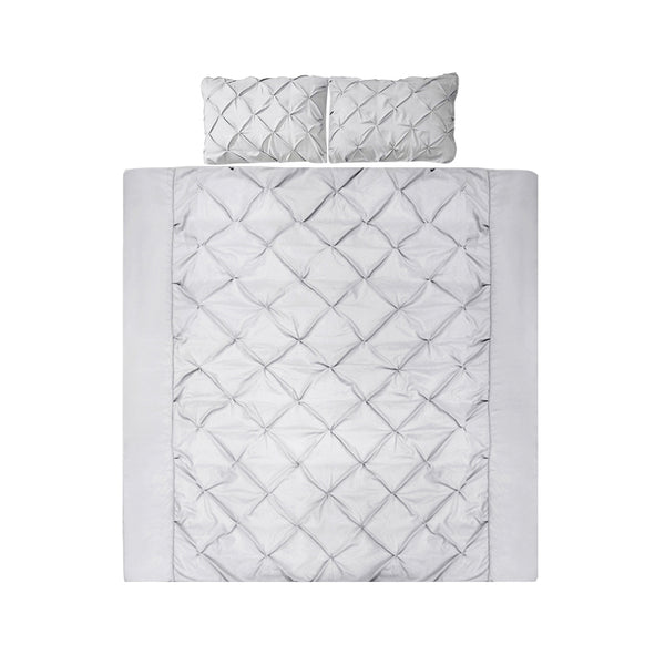 Super King Size Quilt Cover Set - Grey