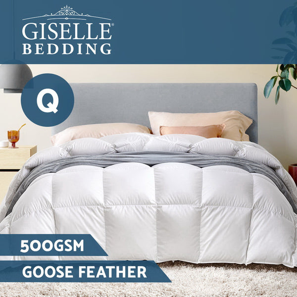 Goose Feather and Down Quilt  500gsm (Queen) - Free Shipping - Darkhorse Creations
