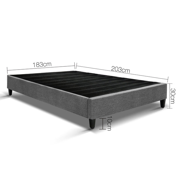 Eden Bed Base King grey