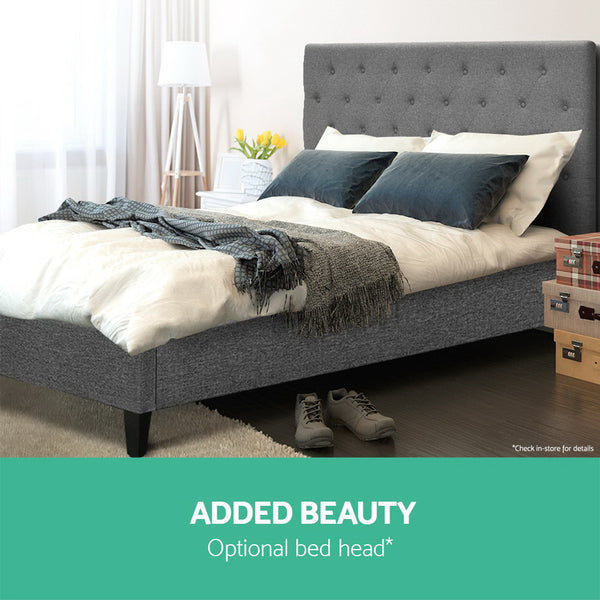 Eden Bed Base King (Grey) - Free Shipping - Darkhorse Creations