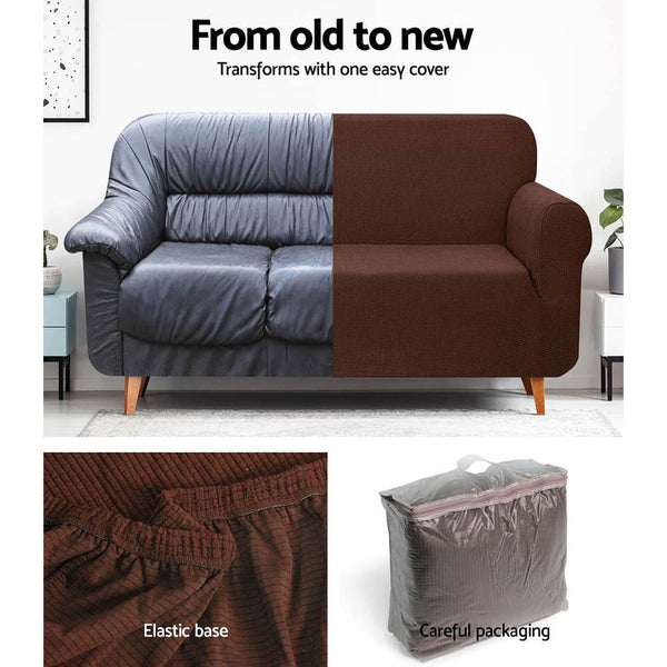 High Stretch Sofa Cover Couch Protector Slipcovers 3 Seater Coffee