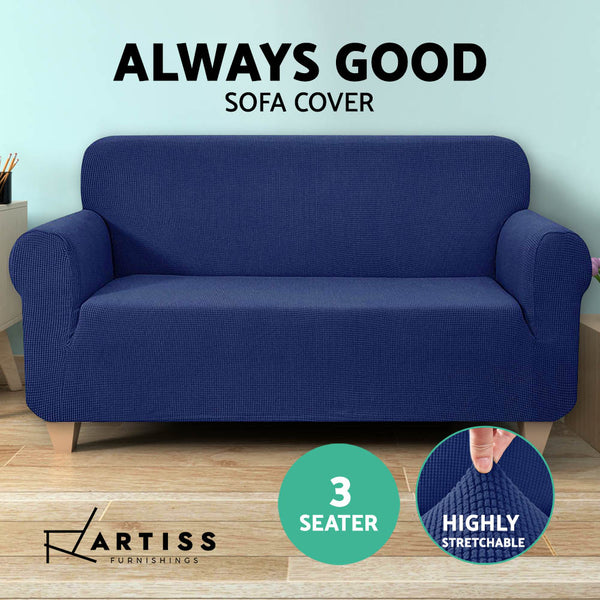 High Stretch Sofa Cover Couch Protector Slipcovers 3 Seater Navy