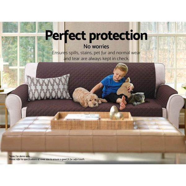 Sofa Cover Quilted Couch Covers Protector Slipcovers 2 Seater Coffee