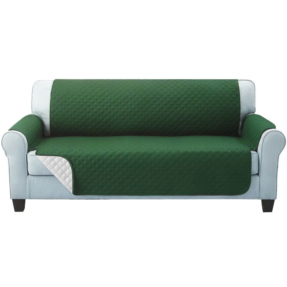 Sofa Cover Quilted Couch Covers Protector Slipcovers 3 Seater Green