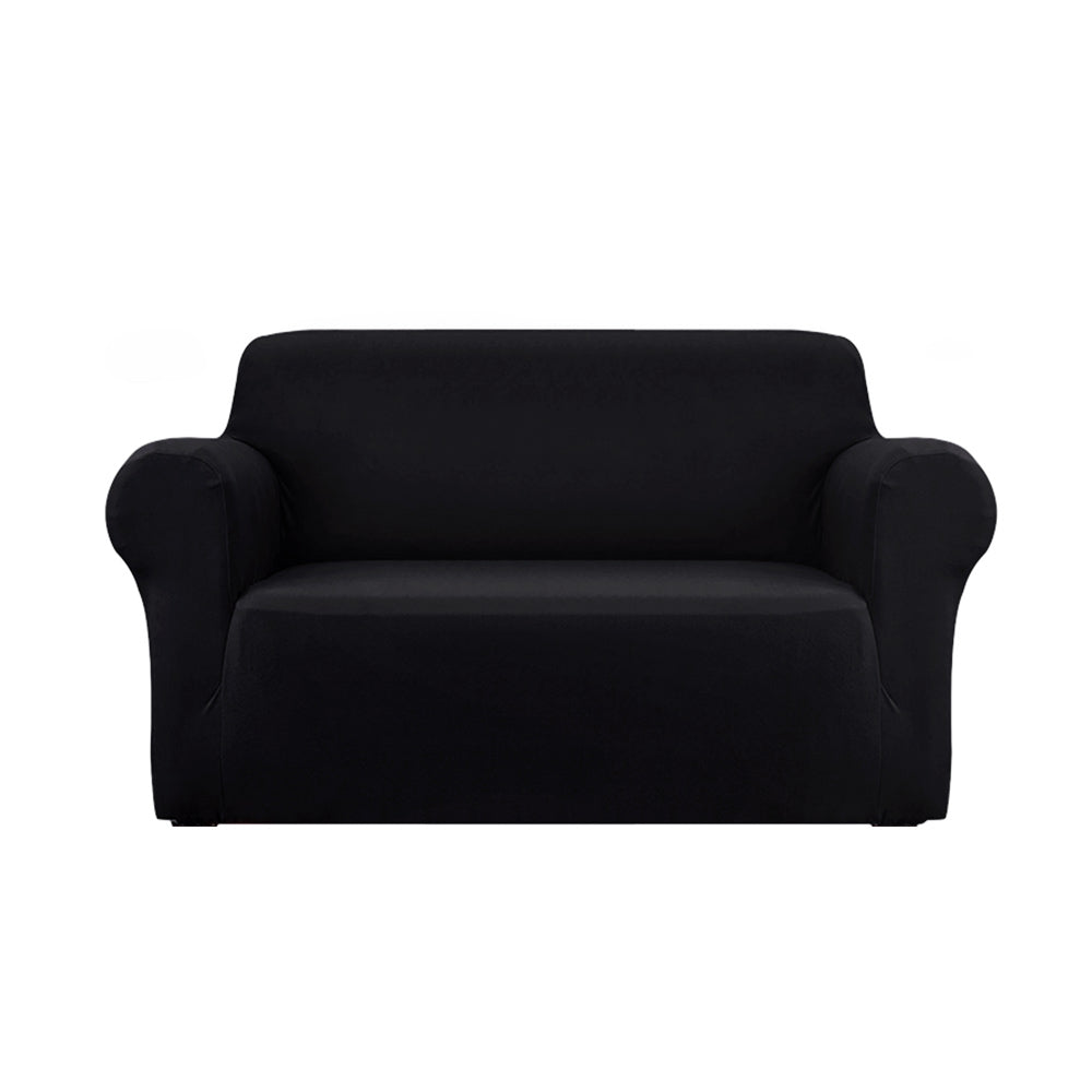 Sofa Cover Elastic Stretchable Couch Covers Black 2 Seater