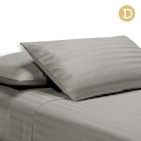 1000TC Cotton Sheet Set Double (Grey) - Free Shipping - Darkhorse Creations