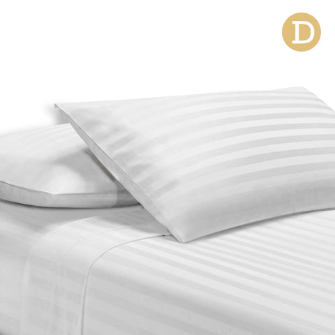1000TC Cotton Sheet Set Double (White) - Free Shipping - Darkhorse Creations
