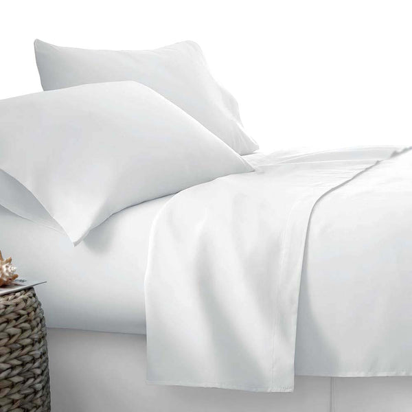 Microfiber Sheet Set King White