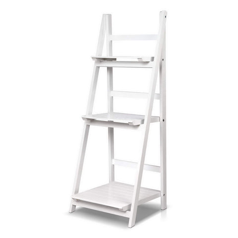 Ladder Display Shelf White