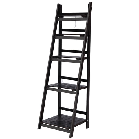 Ladder Shelf 5 Tier Coffee