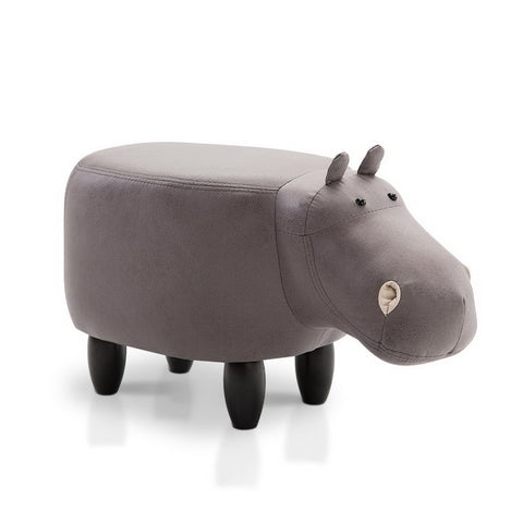Kids Animal Stool Hippo (Grey) - Free Shipping - Darkhorse Creations