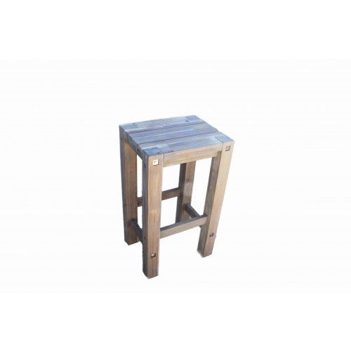 Sturdy Stool Grey Brush Finish