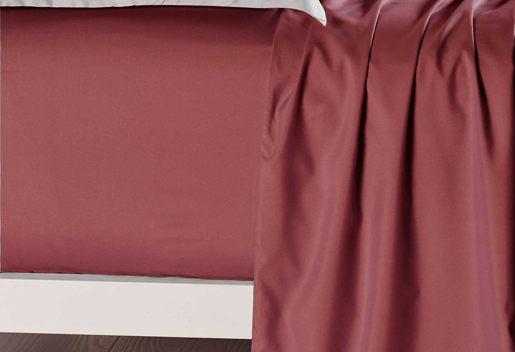 King Size Burgundy Color Fitted Sheet