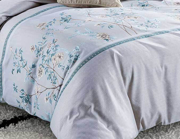 Queen Size 3pcs Tree Leaf Floral Quilt Cover Set