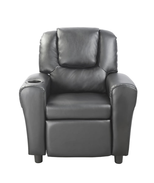Maxis Leather Kids Recliner Black