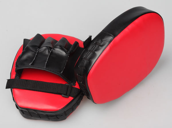 2 x Thai Boxing Punch Focus Gloves Kit Training Red and Black