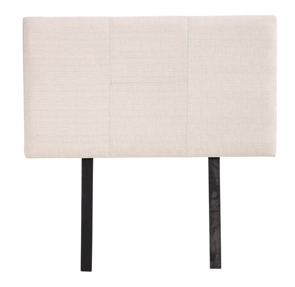 Linen Fabric Single Bed Headboard Bedhead  Beige