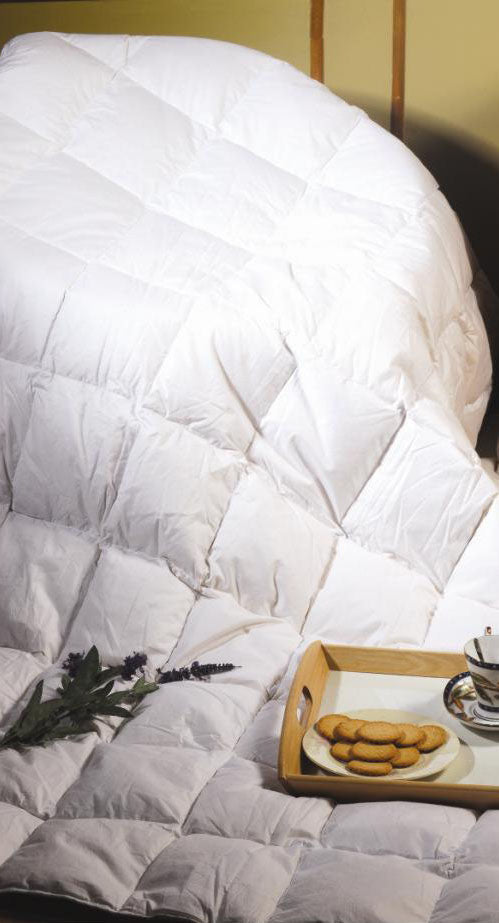 King Single Quilt - 100% White Duck Feather