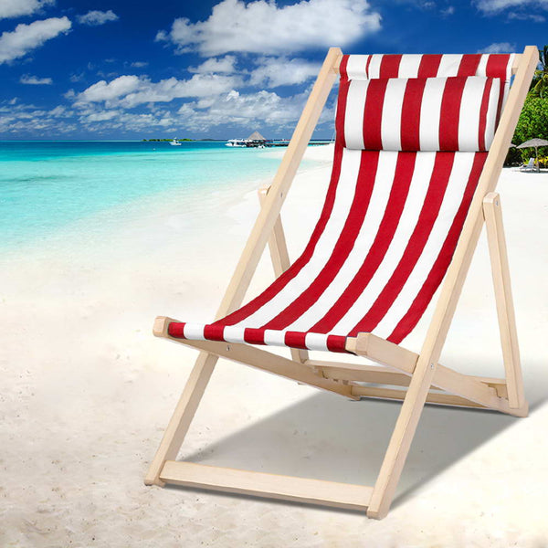 Outdoor Furniture Sun Lounge Chairs Deck Chair Folding Wooden Beach Patio