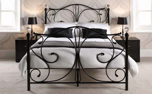 Maddison Bed Frame King Black