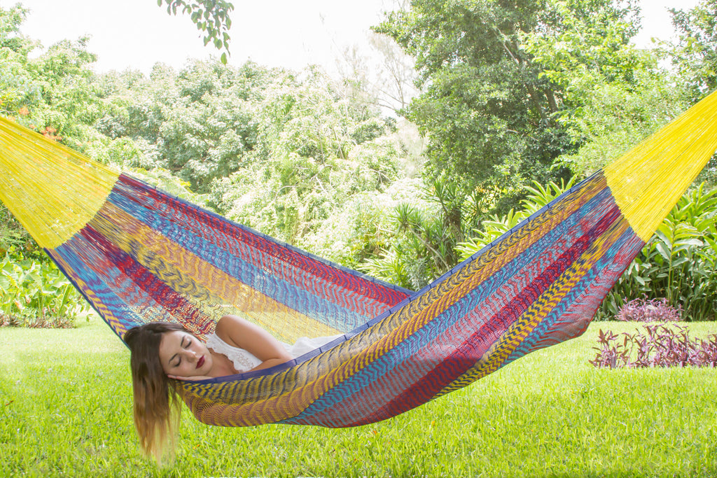 Jumbo Size Cotton Hammock in Confeti