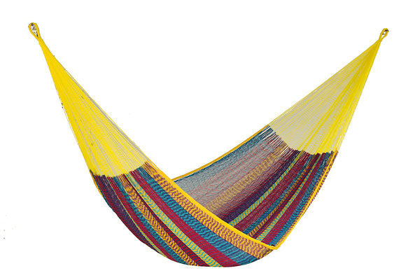 Queen Size Cotton Hammock in Confeti