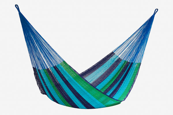 Single Size Cotton Mexican Hammock in Oceanica Colour
