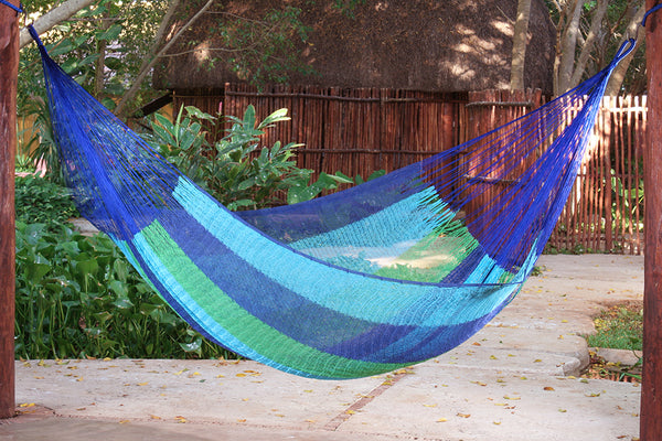 Jumbo Size Cotton Hammock in Oceanica