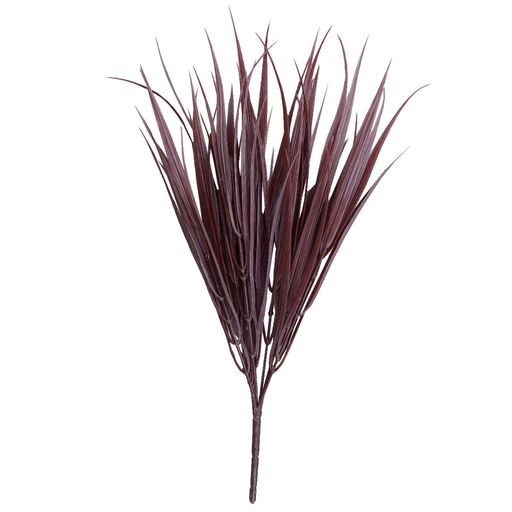 Dark Red Artificial Grass Stem 35cm Long UV Resistant