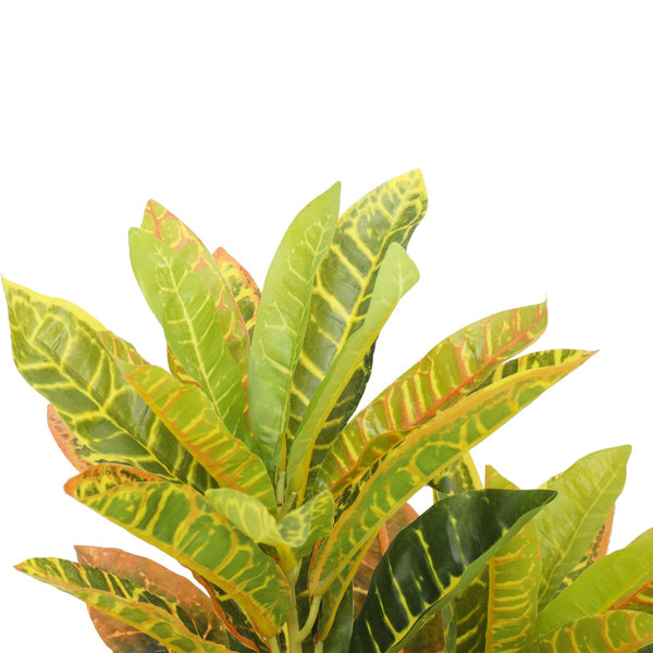 Artificial Potted Flaming Zebra (Codiaeum variegatum / crotons) 55cm
