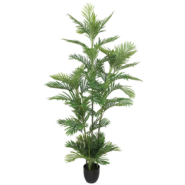Artificial Potted Multi-trunk Fan Palm 180cm