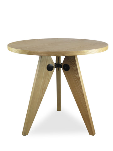 Gueridon Replica Ash Wood Dining Table (Natural) - Free Shipping - Darkhorse Creations